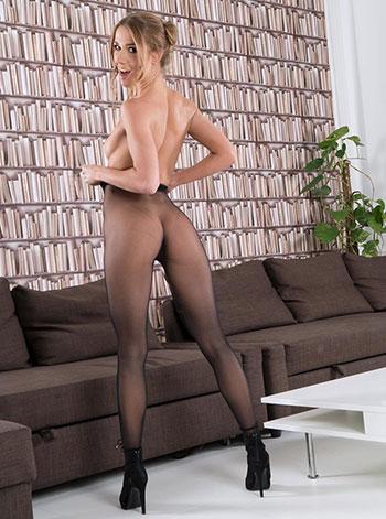 Sexy blonde Alexis Crystal
